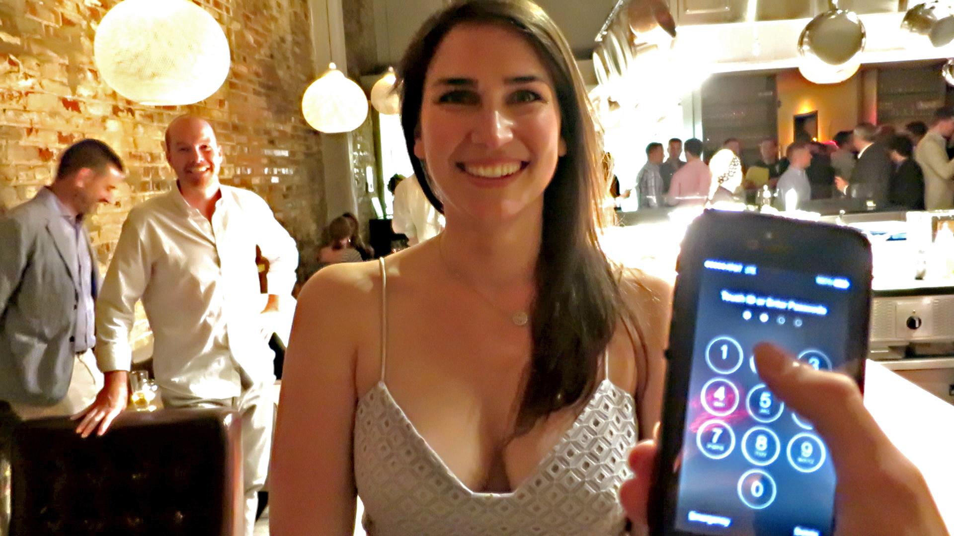 mentalist unlocks iphone at corporate event